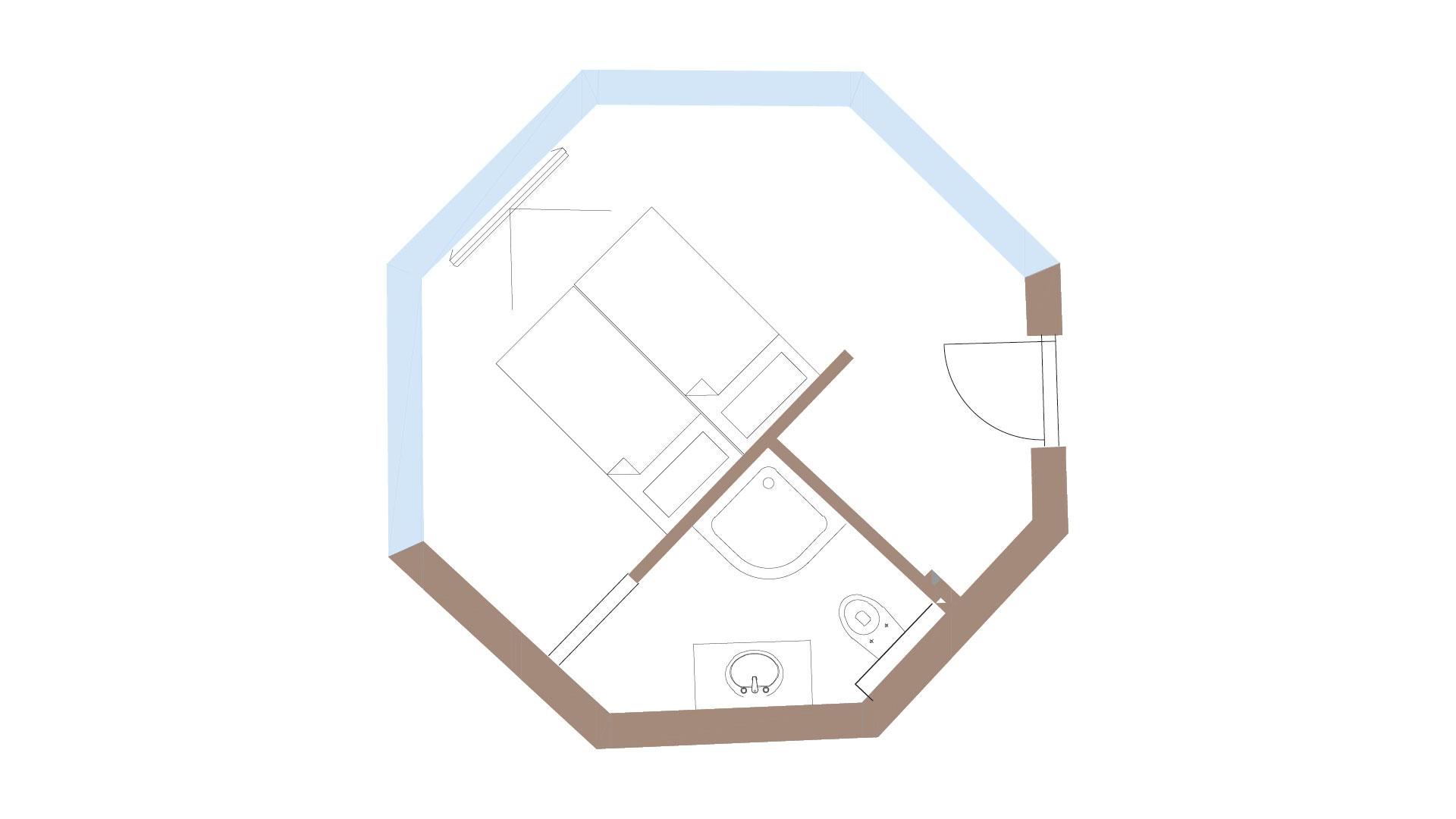 Grundriss Turmzimmer